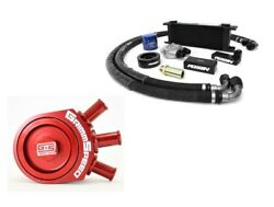 Perrin Oil Cooler Kit And Grimmspeed Air/oil Separator Red For Impreza 02-05 Wrx