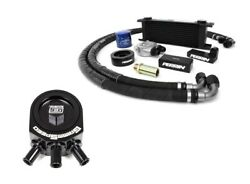 Perrin Oil Cooler Kit And Grimmspeed Air/oil Separator Black For Impreza 02-05 Wrx