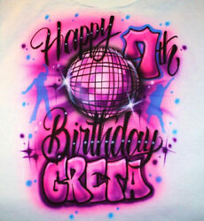 Personalized Girls 70#x27;s Disco Ball Dance Birthday Party T SHIRT 8th 9th 10th 7th $12.99