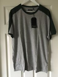 Brave Soul Cut And Sew Ringer T-shirt Grey Size Xl New With Tags