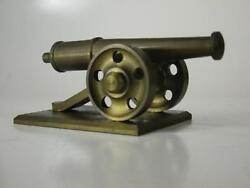 Vintage 1940and039s Heavy Brass Cannon Model / Toy Mid-century Modern Style Wwi Wwii
