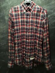 Last Chance Store Closing Thom Browne Plaid Madras Shirt Small Button Down Size1