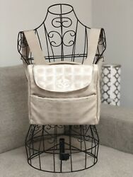 Authentic CHANEL NylonFabric Canvas Backpack Crossbody or Shoulder Bag Purse
