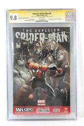 Superior Spider-man 8 Variant Cgc 9.8 Ss Signed 2x Stan Lee Humberto Ramos