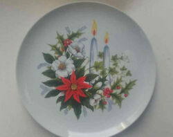 Arklow Ireland Poinsettia And Holly Christmas Holiday Porcelain Plate