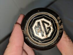 Sweet Vintage Mg Tf Enamel Leather Shift Shifter Knob 2 1/4 And 1 7/8 Diameter