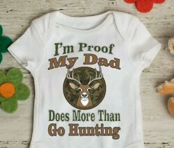 New Daddy Gift Hunter Daddy Deer Season Funny Bodysuit Creeper Snapsuit $14.99