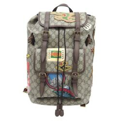 GUCCI Courrier Soft GG Supreme Vintage TIGER UFO DRAGON Embroidery Backpack Rare