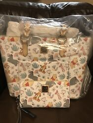 NWT Disney Dooney & Bourke Winnie The Pooh Tote & Wallet Wristlet SOLD OUT!