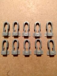 Gm Buick Chevy Oldsmobile Pontiac Body Side Moulding Trim Clip 1967-on New 10 Pc