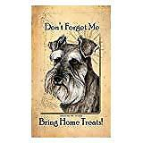 Schnauzer Uncropped Dog Baggage Buddies Luggage Tag 4quot;