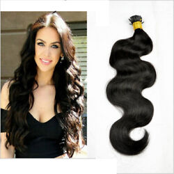 100 Strands I Stick Tip Body Wave Remy Human Hair Extension Micro Ring Bead