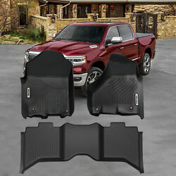Oedro Liners Floor Mats Fit For 2012-2018 Dodge Ram 1500/2500/3500 Crew Cab