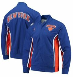 Menand039s Brand New New York Knicks Warm Up Athletic Fashion Jacket [6056a]