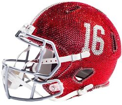 NEW NCAA Full Size Helmet Made with Swarovski® Crystals + Case - ANY TEAM! OBO