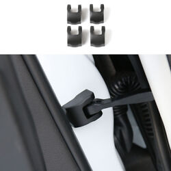 4pcs For Jeep Compass 2017 Car Black Door-lockandlimiting-stopper Protector Cover
