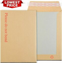 Hard Card Board Back Backed Envelopes Please Do Not Bend Manilla Brown Rigid