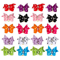50100pcs Dog Hair Bows Rubberband Christmas Pet Puppy Grooming Accessories USA