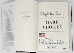 Psa/dna President Bill And Hillary Clinton Signed Autographed Hard Choices Book