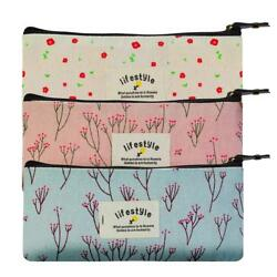 Floral Pencil Case Cosmetic Bag Set of 3 $14.00