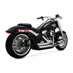 Vance And Hines Shortshots Staggered Chrome Harley-davidson Fatboy Breakout 18-19