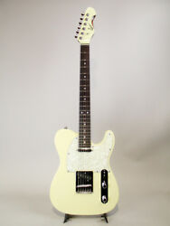 Sago Classic Style T E.Guitar Free Shipping Dress White with Gig Bag USED