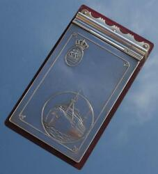 Dutch Royal Mail Knsm Ss Colombia Art Deco Quality Note Book Holder Sold Onboard