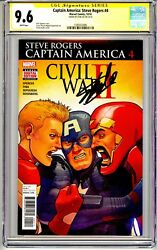Captain America Steve Rogers 4 Cgc Ss 9.6 Stan Lee Signed No Reserve
