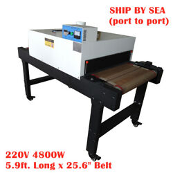 Sea - 4800w T-shirt Conveyor Tunnel Dryer 25.6 X 5.9and039 Belt For Screen Printing