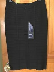 Herve Leger And039siaand039 Black Bandage Skirt-the Classic Skirt For Always Bnwt And Card