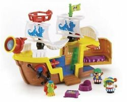 Fisher Price Little People Liland039 Pirate Ship Kid Treasure Boat Discontinued -rare