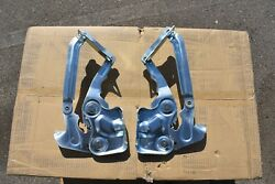 56 1956 Chevrolet Chevy 2 New Cad Plated Hood Hinges W / New Usa Springs