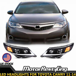 2X FIT FOR TOYOTA CAMRY 2012-2014 Assembly Head Lamps LED Headlights Projectors