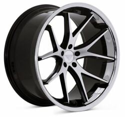 22 Ferrada Fr2 Machined Black Concave Forged Wheels Rims Fits Chrysler 300 C S