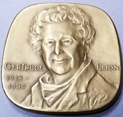 Gertrude Elion Jewish American Gold On Bronze Medal Rare Mint Of 25 121-3