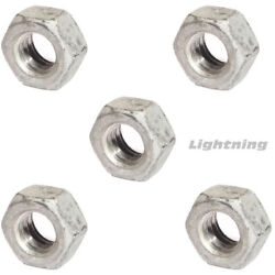 Finished Hex Nuts Hot Dipped Galvanized Steel Grade A307 1-8 Qty 2500