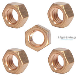 Silicon Bronze Grade 651 Full Finished Hex Nut 1-1/8-7 Qty 50