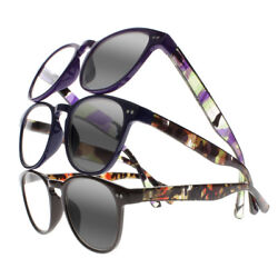 Photochromic Transition Camouflage Oversize Spring Hinges Reading Glass +1+4