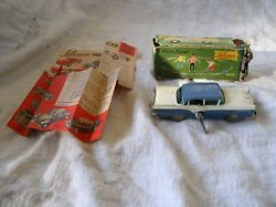 Schuco 1045 Ford Custom Windup Micro Racer And Box