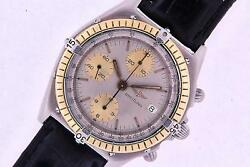 Breitling Chronomat Steel And Gold Automatic Mens Chronograph Watch With Papers