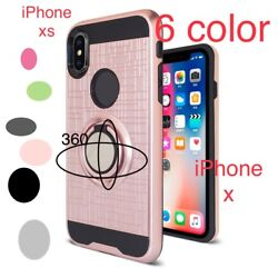 Lot 10-20-25-50 Magnet Ring Hybrid Shockproof Case- Protector For Iphone X/xs