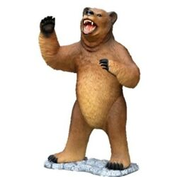 Bear Grizzly Brown Life Size Resin Statue Mouth Open Display Prop