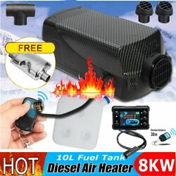 8KW 12V Car Auto Diesel Air Fuel Heater 10L Tank LCD Switch Remote+Silencer T1