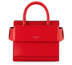 NWT Givenchy Horizon Mini Red Leather Shoulder Crossbody Handle Satchel Tote Bag