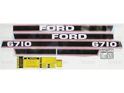 Complete Decal Set/kit For Ford 6710 Tractor Black/red Stripe Force Ii '86-up