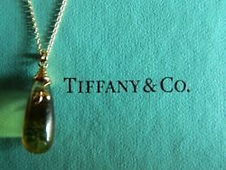 Nib And Co Paloma Picasso Olive Leaf Cap Citrine Pendant 18k Yellow Gold