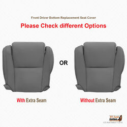 For 2007 - 2013 Toyota Sequoia Driver Bottom Gray Leather Replacement Seat Cover