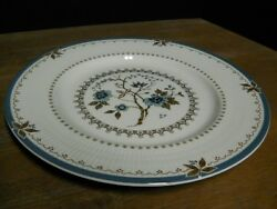 Dinner Plate Blue Floral China Ribbed Rim Old Colony Pat Royal Doulton England
