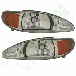 Passenger+Driver Side assembly pair Head lamps Fits  97-02 ESCORT FORD