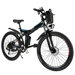 Folding Electric Mountain Bike 26 Inch Pedal Assisted 3 Speed Aluminum Frame